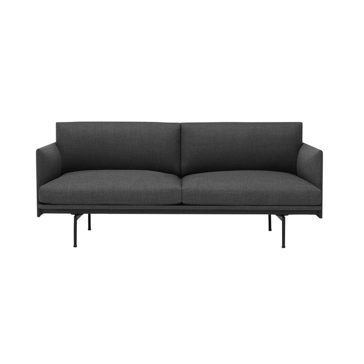 The Outline Sofa 2-seater from Muuto in grey