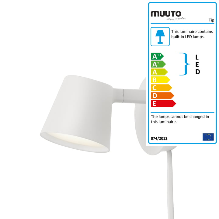 The Tip wall light from Muuto in white