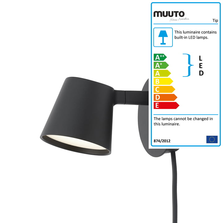 The Tip wall light from Muuto in black