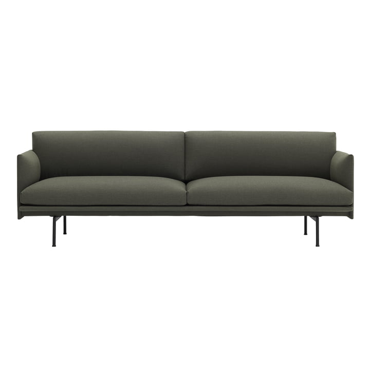 The Outline Sofa 3-seater from Muuto in green fiord 961