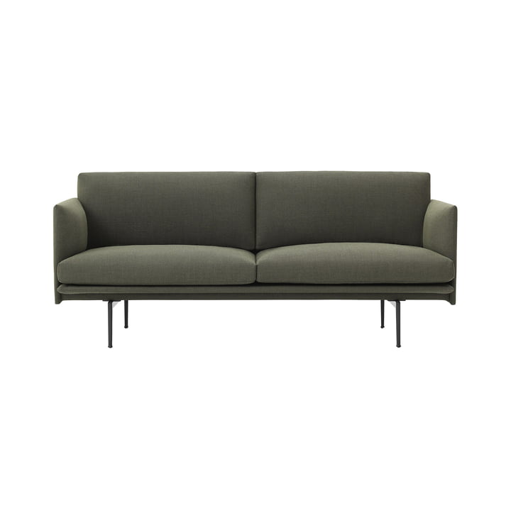 The Outline Sofa 2-seater from Muuto in green fiord 961