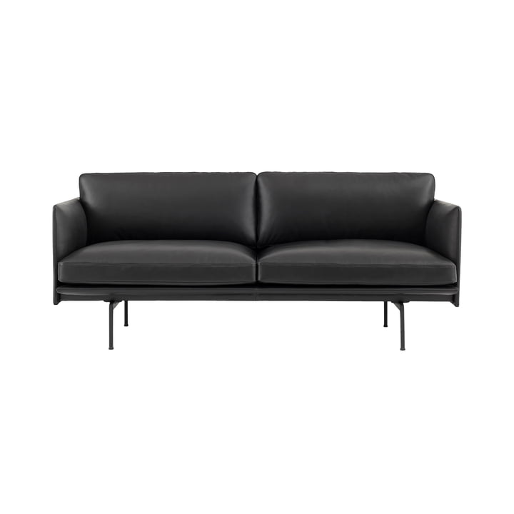 The Outline Sofa 2-seater from Muuto in black