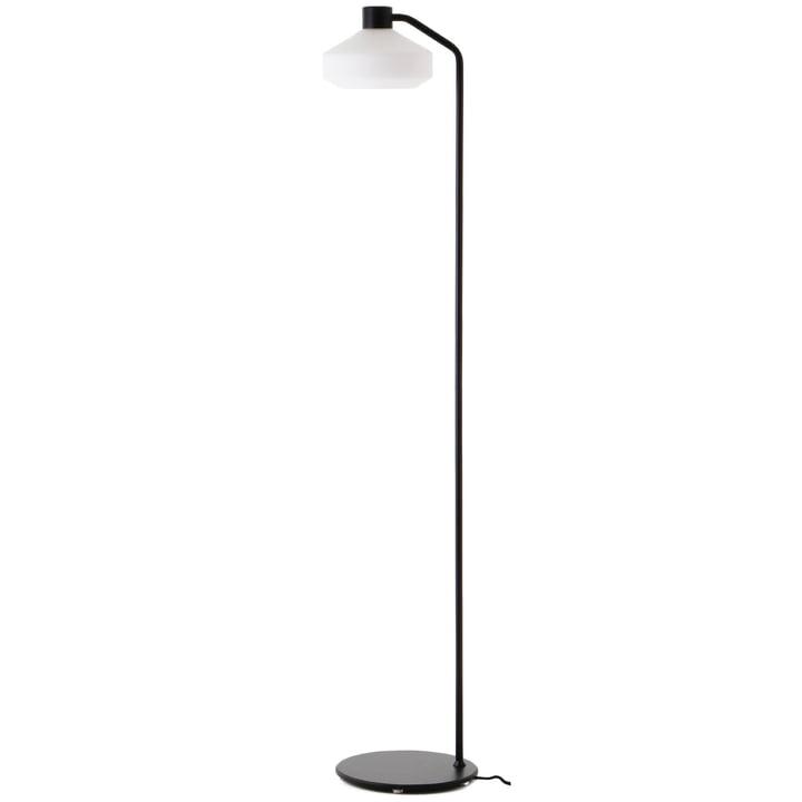 The Mayor floor lamp from Frandsen in black matt / opal white