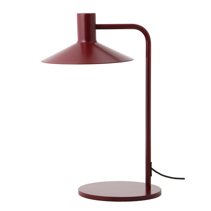 The Minneapolis table lamp from Frandsen in wine red matt