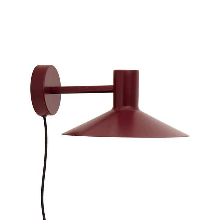 The Minneapolis wall lamp from Frandsen in matt burgundy