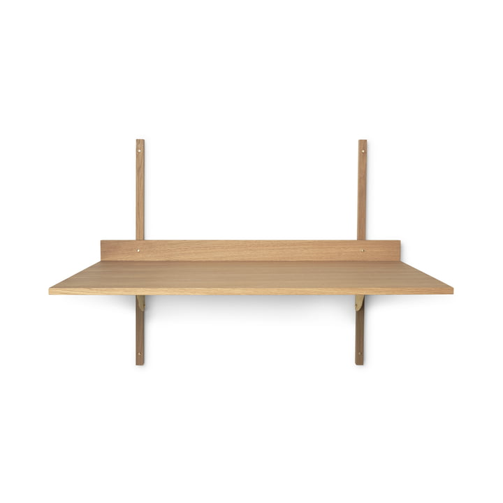 The Sector desk from ferm Living in oak / brass