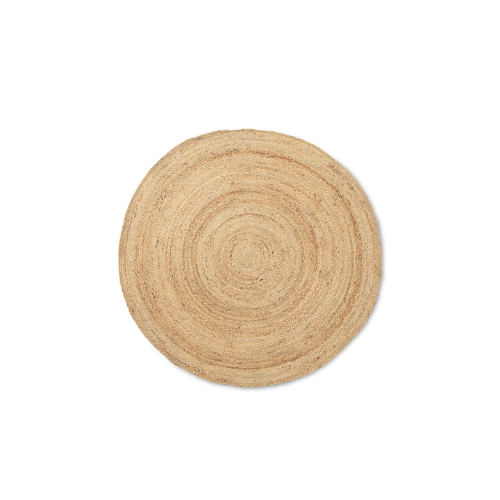 The small Eternal Round jute carpet from ferm Living in nature
