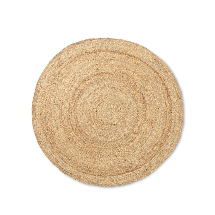 The great Eternal Round jute carpet from ferm Living in nature