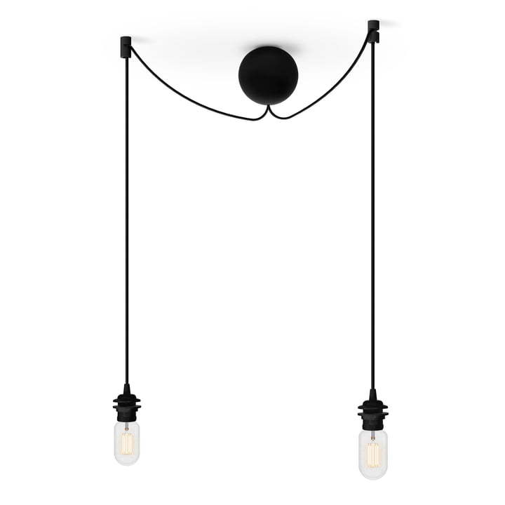 The lamp suspension from Umage in black