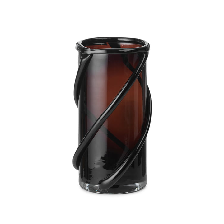 The small Entwine vase by ferm Living in dark amber