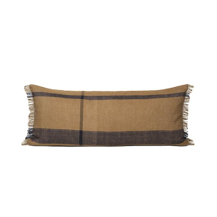The long Dry cushion from ferm Living in sugar kelp black
