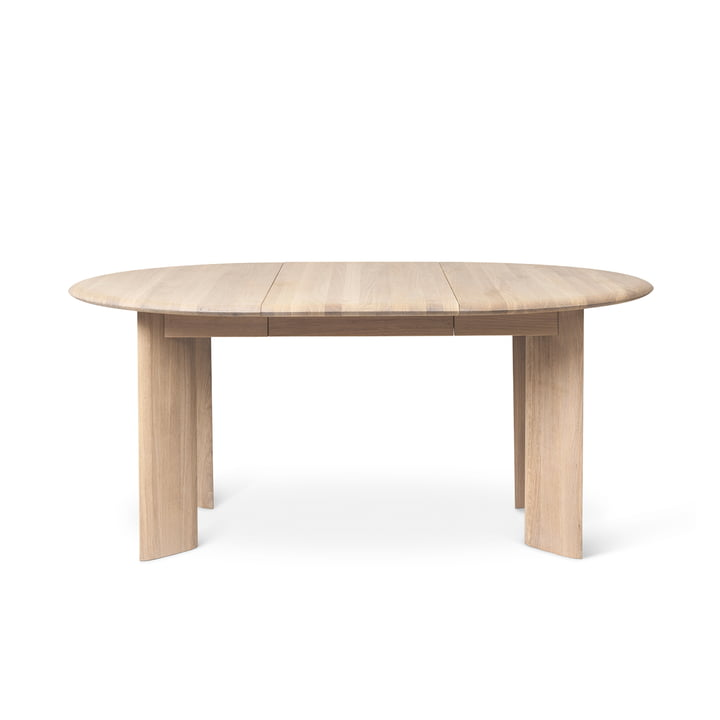 The Bevel extendable dining table from ferm Living in nature