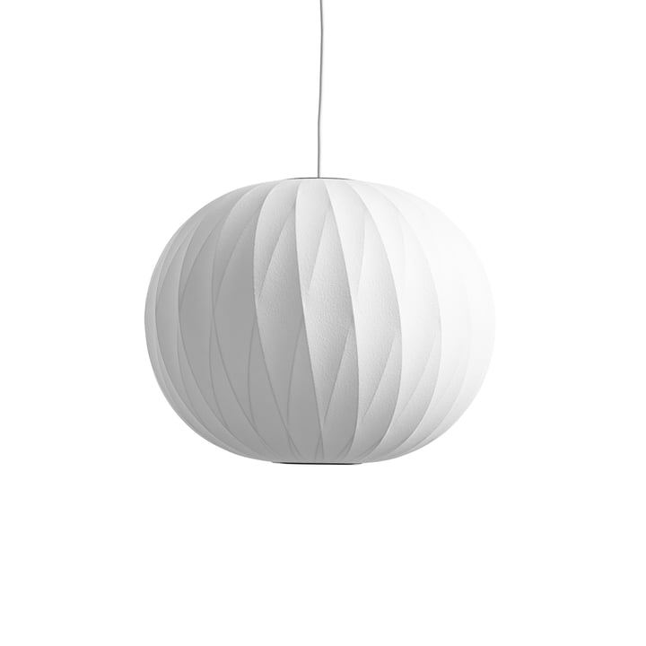 Nelson Ball Crisscross Bubble pendant lamp M, Ø 48,5 x H 39,5 cm from Hay in off white