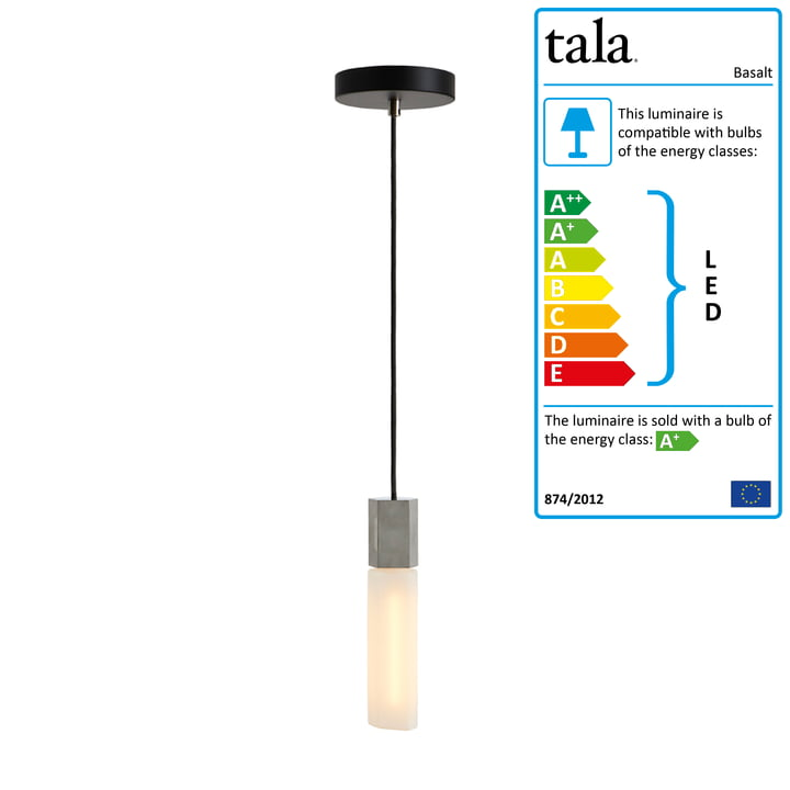 Basalt Pendant lamp Single, stainless steel from Tala