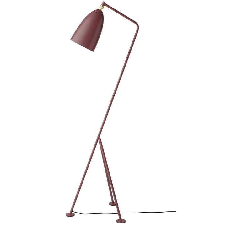 The Gubi - Gräshoppa Floor lamp GM1 in andorra red