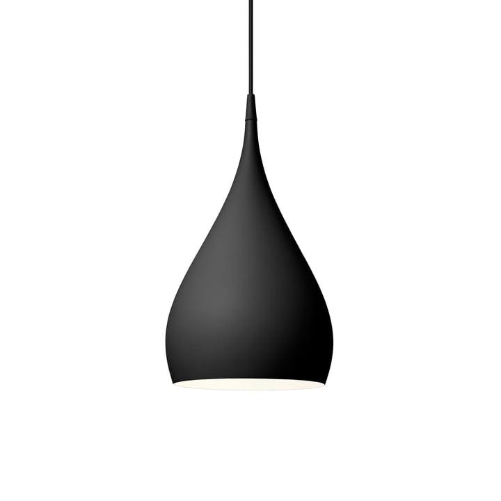 Spinning pendant lamp BH1 Ø 25 cm from & tradition in matt black