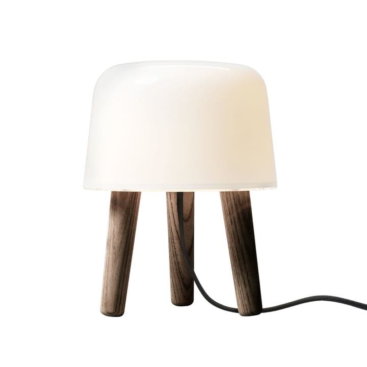 & Tradition - Milk Table lamp, NA1, smoked ash / cable black
