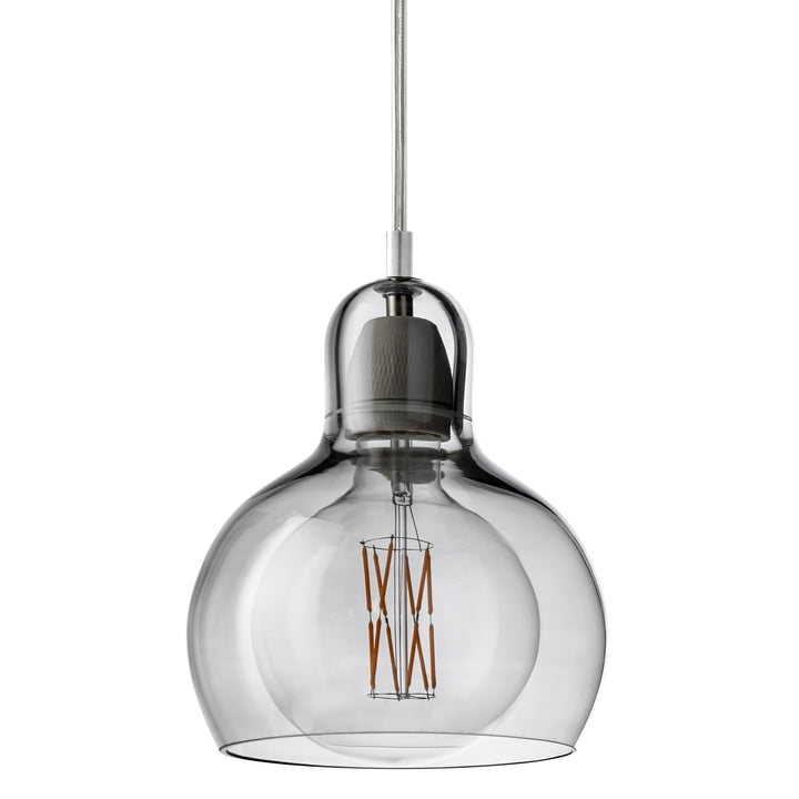 & tradition - MEGA Bulb pendant lamp SR2, glass shade silver / cable transparent