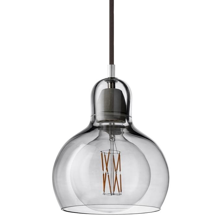 & tradition - MEGA Bulb pendant lamp SR2, glass shade silver / cable black