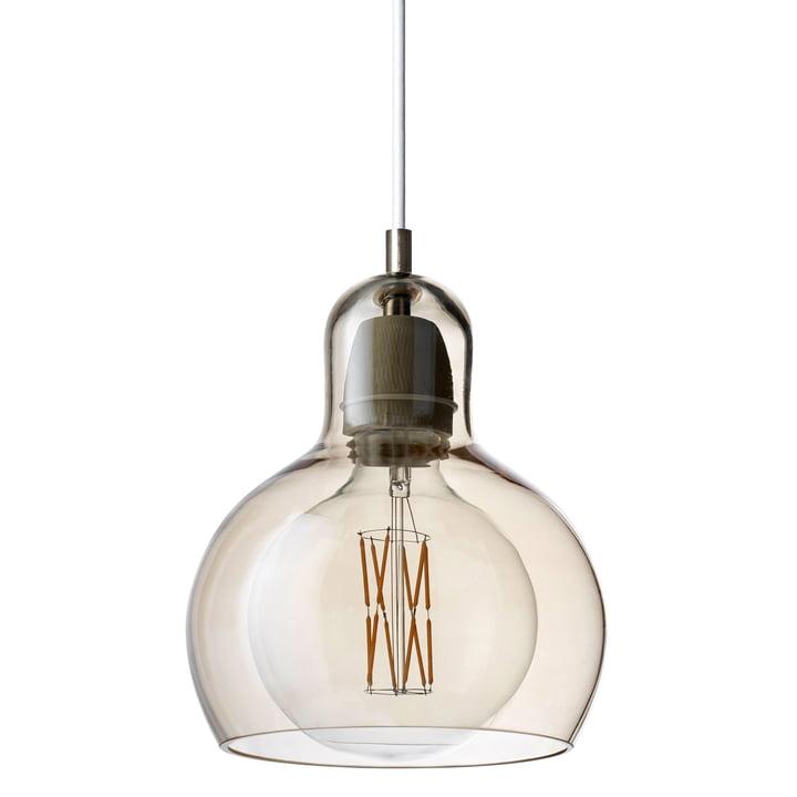 & tradition - MEGA Bulb pendant lamp SR2, glass shade gold / cable white