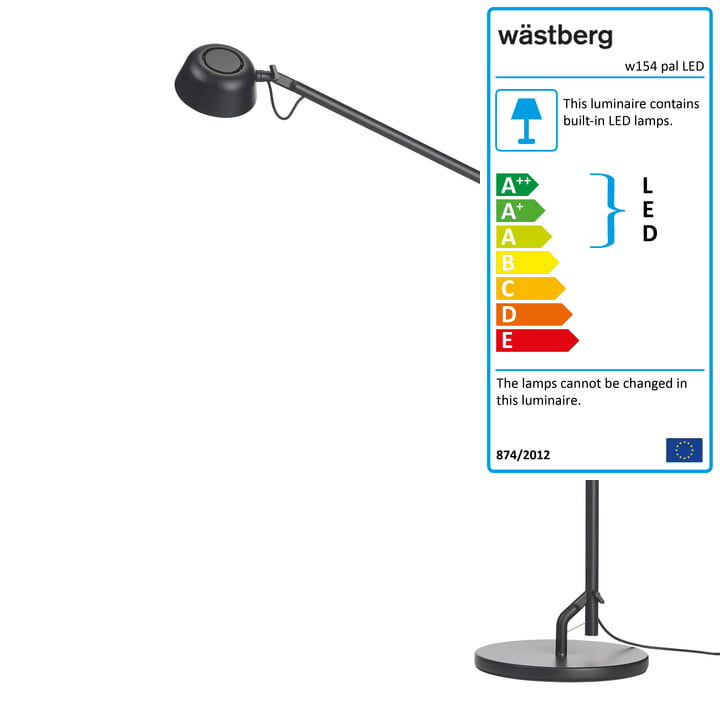 The w154 pal LED table lamp from Wästberg in black