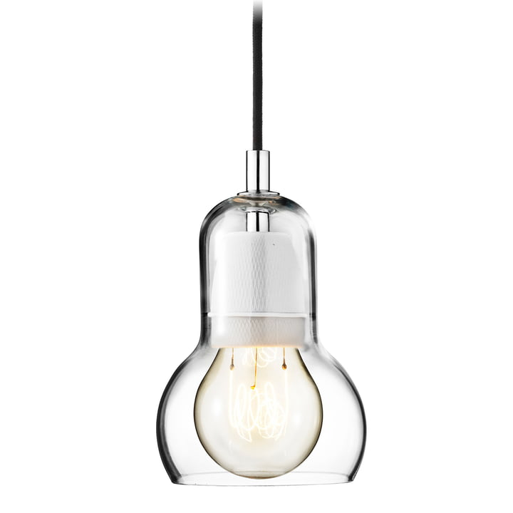 & Tradition - Bulb Pendant lamp, SR1, clear, power cord black