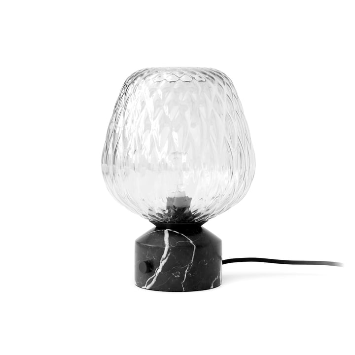 Blown table lamp SW6, Nero Marquina marble by & tradition