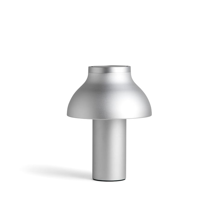 PC table lamp S, Ø 25 x H 33 cm, silver by Hay