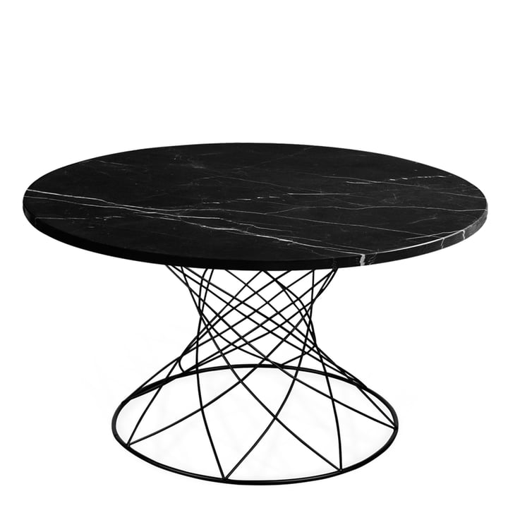 The Merge coffee table H 45 Ø 80 cm, black / marble black from Ox Denmarq
