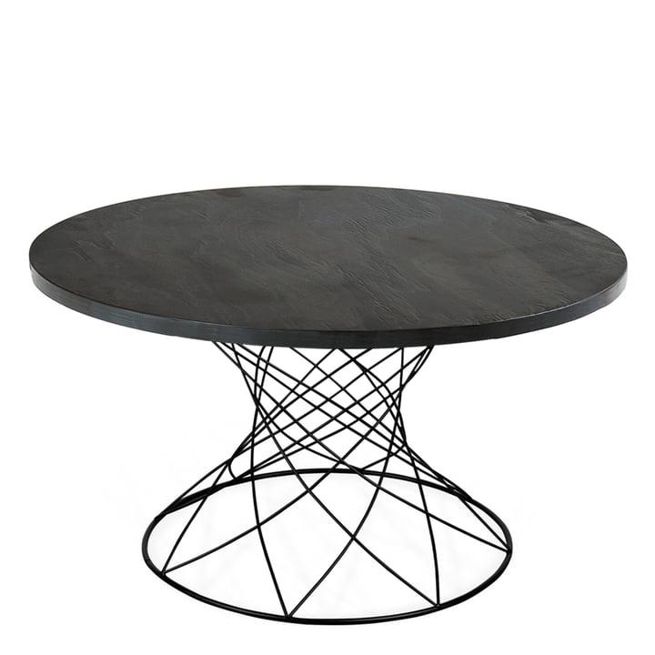 The Merge coffee table H 45 Ø 80 cm, black / slate rustic by Ox Denmarq