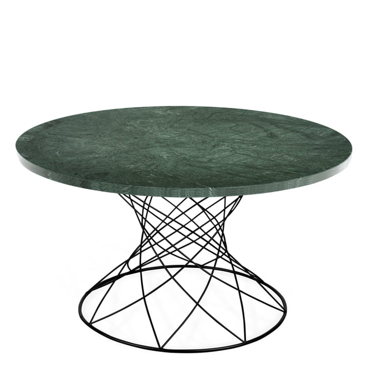 The Merge coffee table H 45 Ø 80 cm, black / marble green from Ox Denmarq
