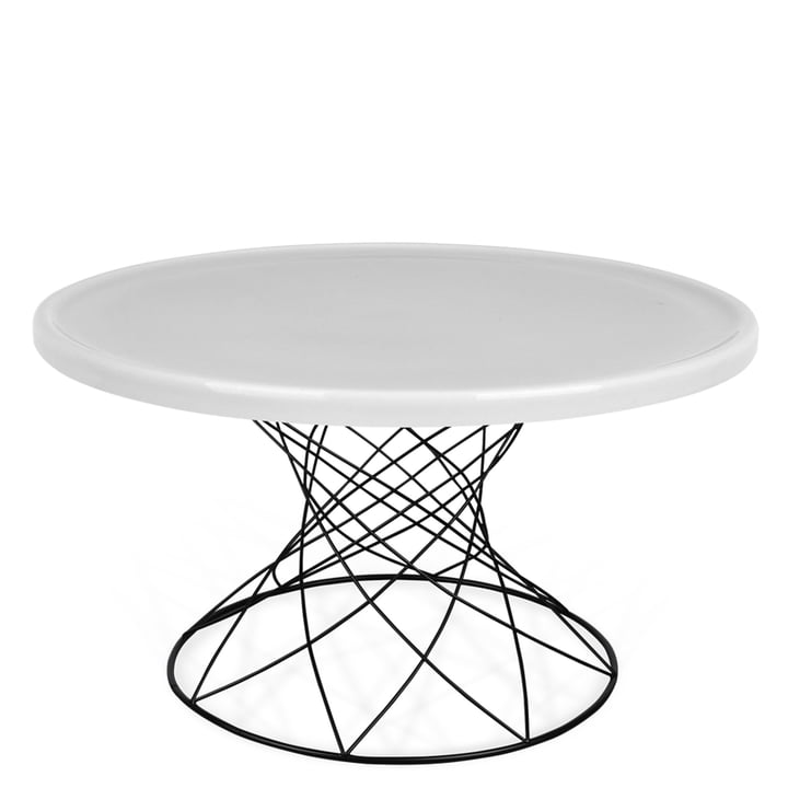Merge coffee table H 45 Ø 80 cm, black / porcelain grey by Ox Denmarq