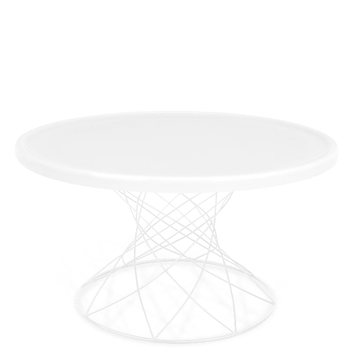 Merge coffee table H 45 Ø 80 cm, white / porcelain white from Ox Denmarq