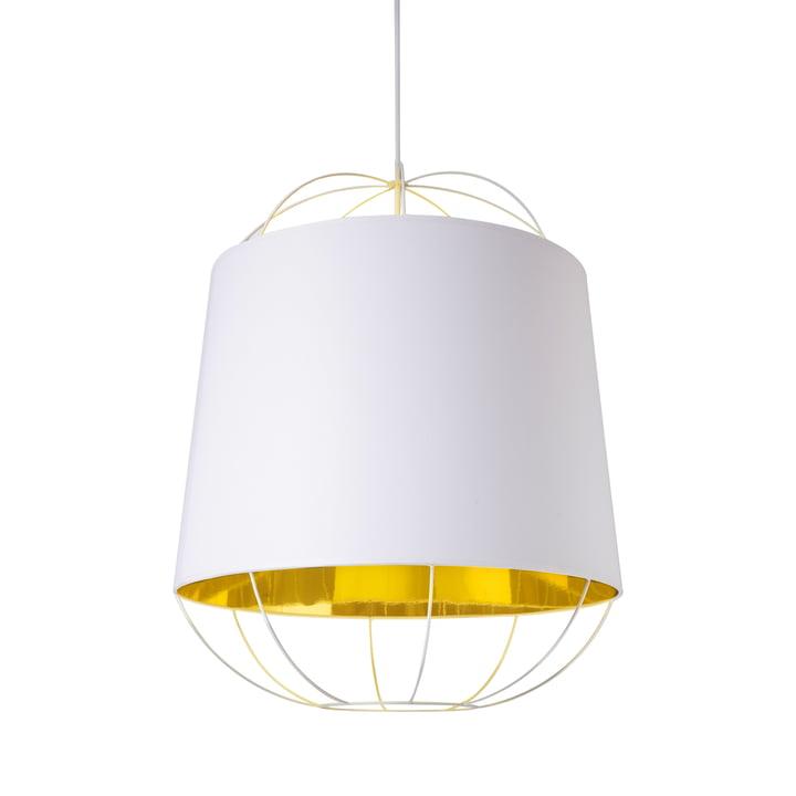 Lanterna pendant lamp, medium by Petite Friture in white / gold