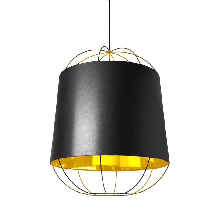Lanterna pendant lamp, medium by Petite Friture in black / gold