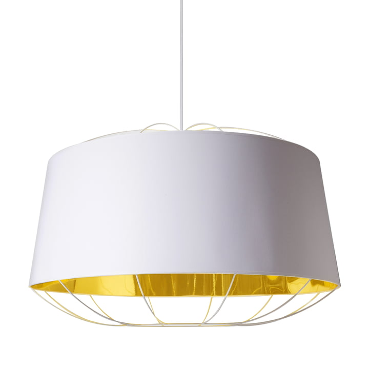 Lanterna pendant lamp, large by Petite Friture in white / gold