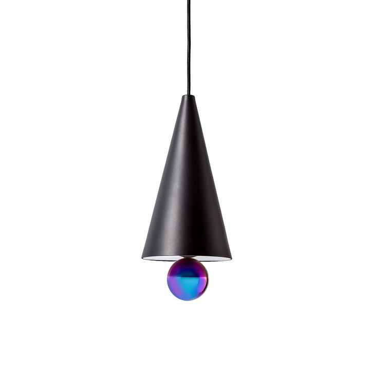 Cherry Pendant Lamp, small by Petite Friture in black / rainbow colours