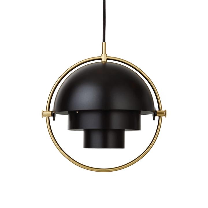 Multi-Lite Pendant light S Ø 22,5 cm by Gubi in brass / black