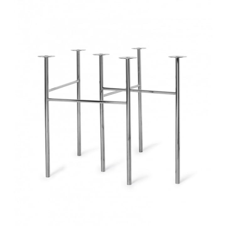 The Mingle Table trestles from ferm Living in chrome (set of 2)