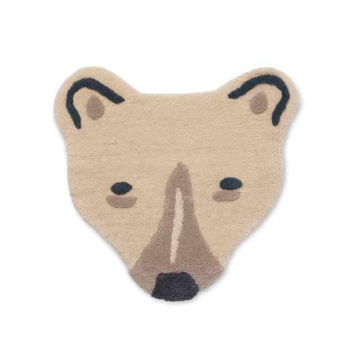 The Tufted Animal children's carpet from ferm Living as a polar bear's head