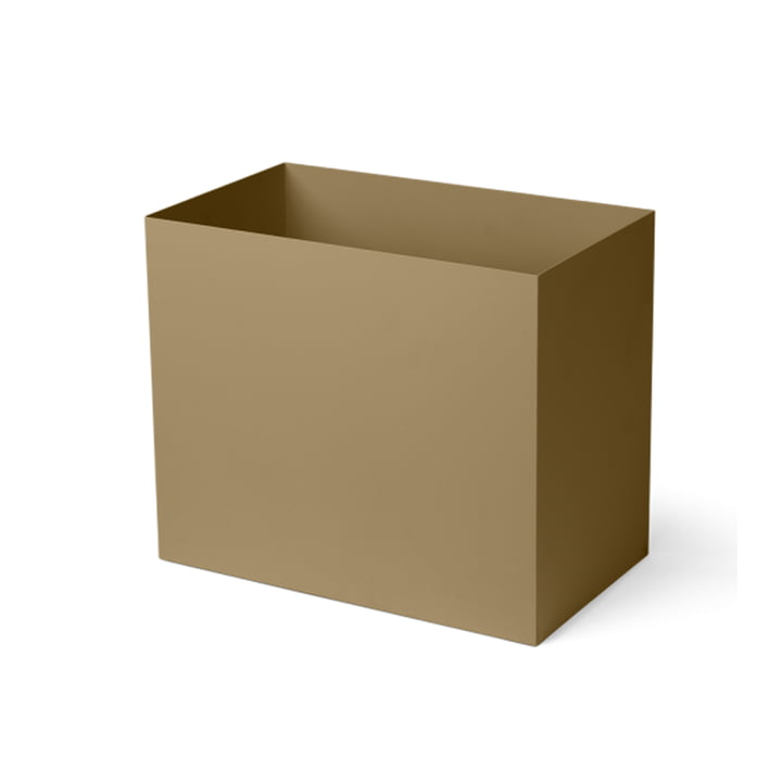 The large container for Plant Box from ferm Living in olive