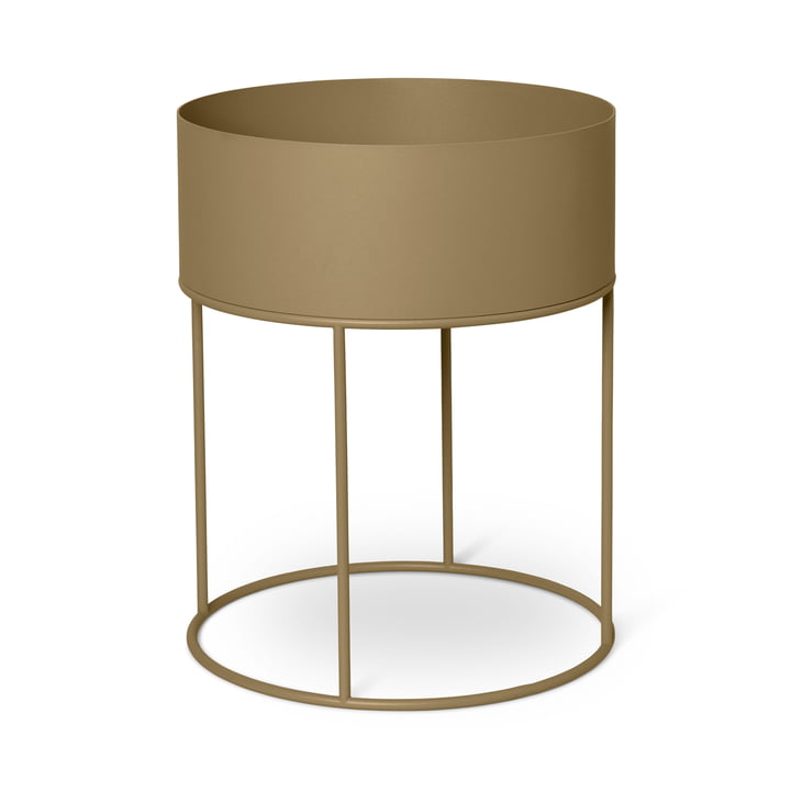 Plant Box round from ferm Living in olive