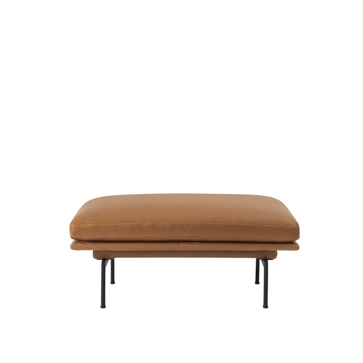 The Outline Sofa Pouf from Muuto with black aluminium legs