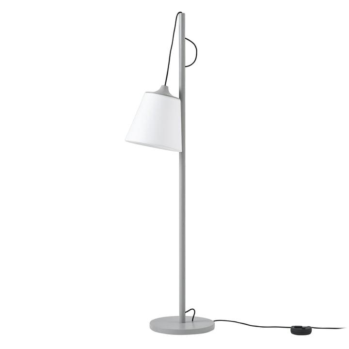Pull floor lamp from Muuto in grey / white