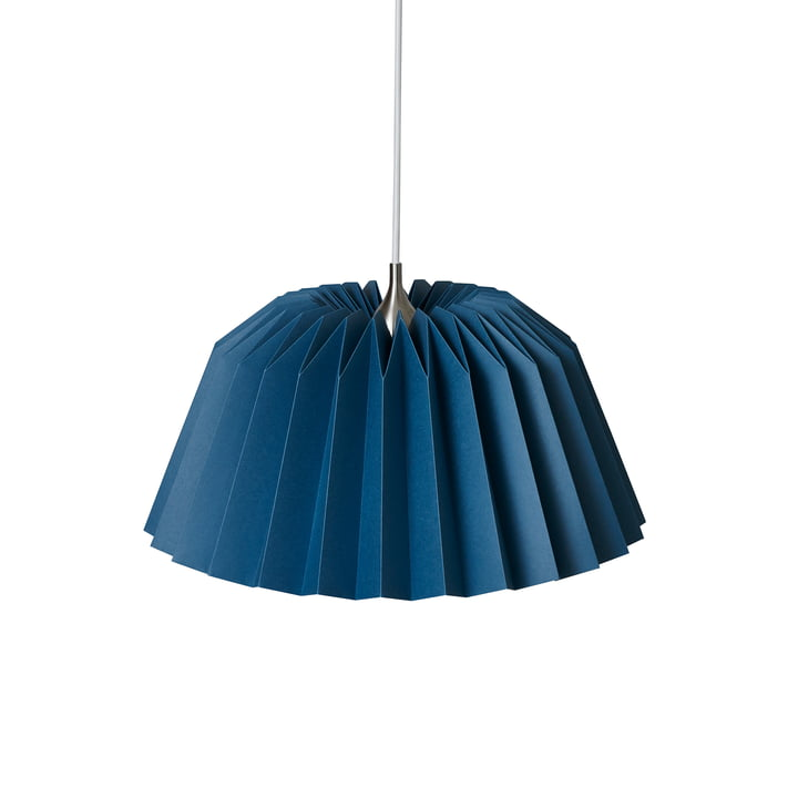 Pleats 116 Megatwo Pendant luminaire M from Le Klint in Indigo Blue