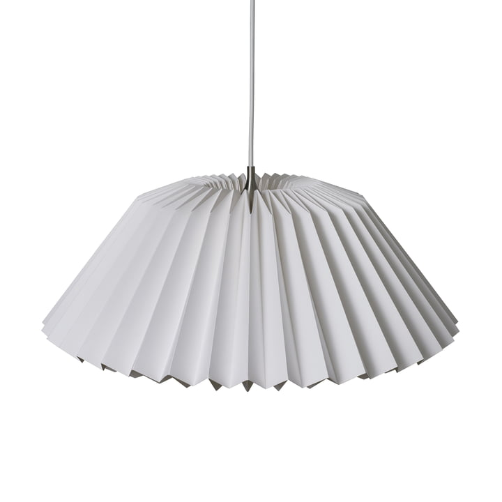 Pleats 116 Megatwo Pendant luminaire L from Le Klint in Silk White