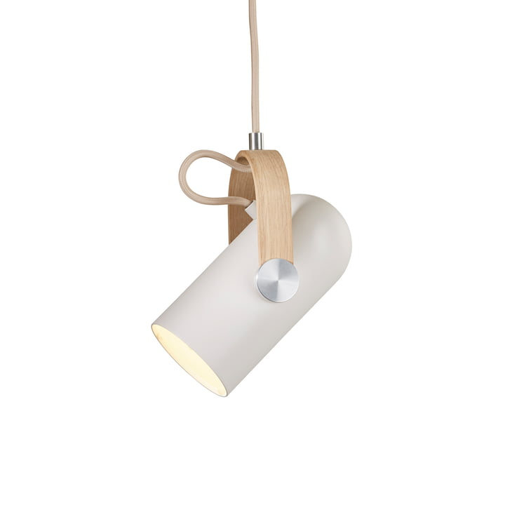 Carronade 160 pendant luminaire Nordic Classic from Le Klint in soaped oak / matt lacquered aluminium