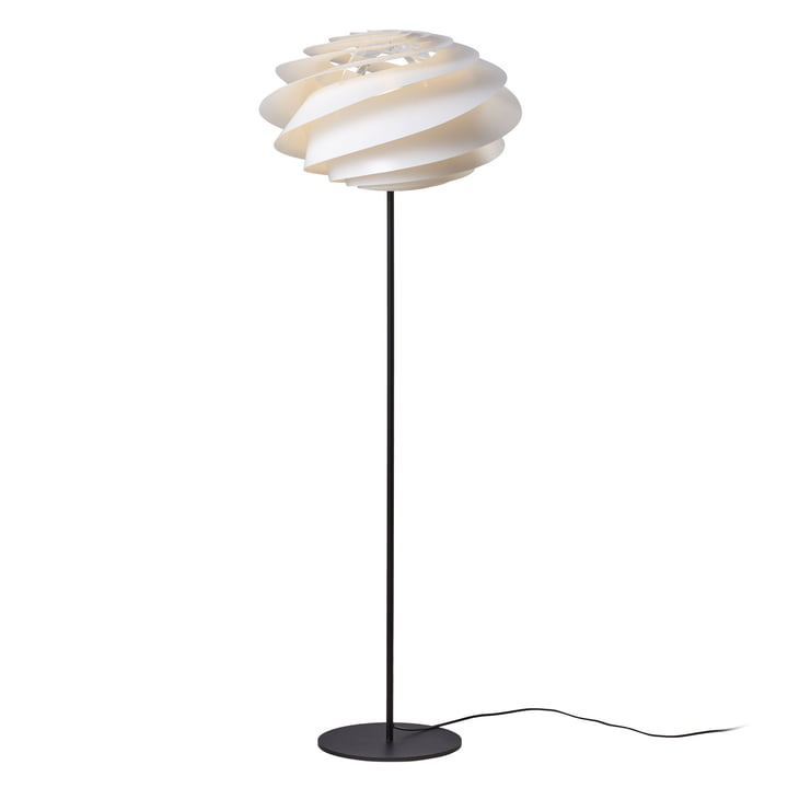 Swirl Floor Lamp Ø 50 cm by Le Klint in White