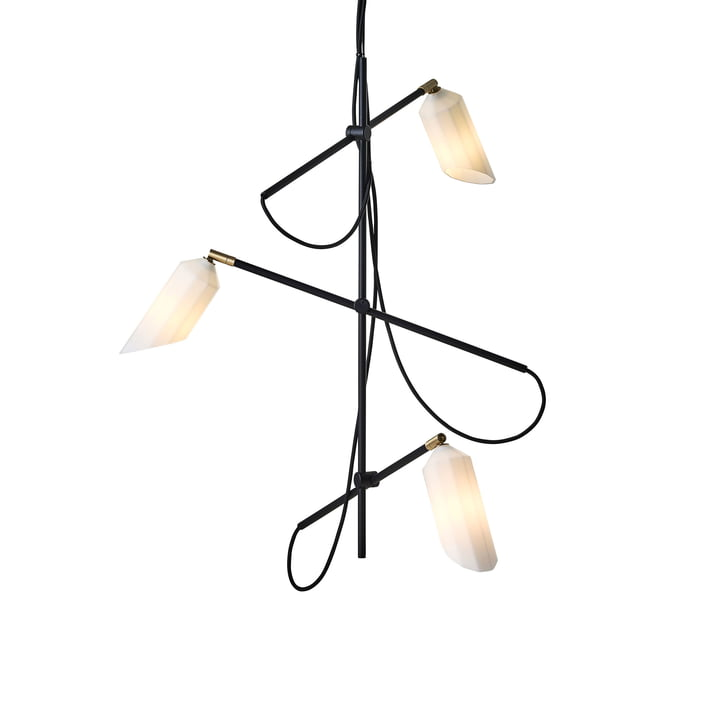 Pliverré chandelier from Le Klint in black / white