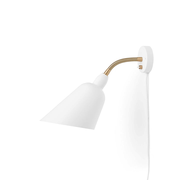 The Bellevue wall lamp AJ9 from & tradition in white / brass